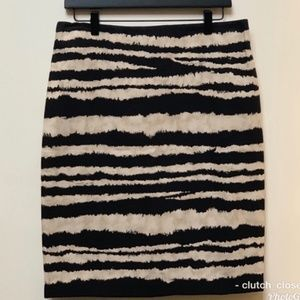 TALBOTS NWT ANIMAL PRINT STRIPED PENCIL SKIRT